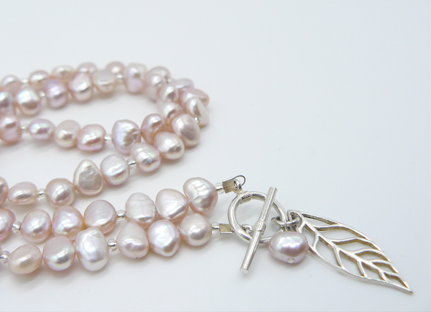 Palest of Pink - Pearls for Spring