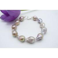 Natural Golden Baroque Pearl Bracelet