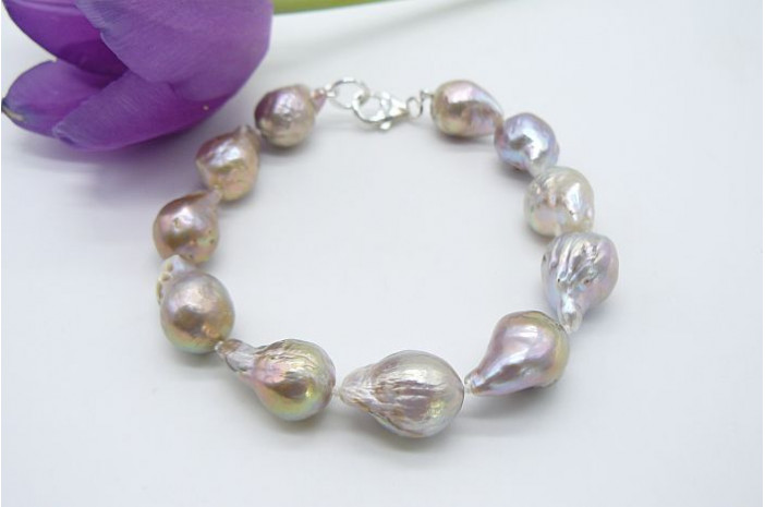 Natural Golden Baroque Pearl Bracelet