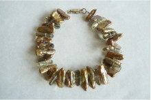 Gold BIWA Pearls & Smokey Quartz Bracelet