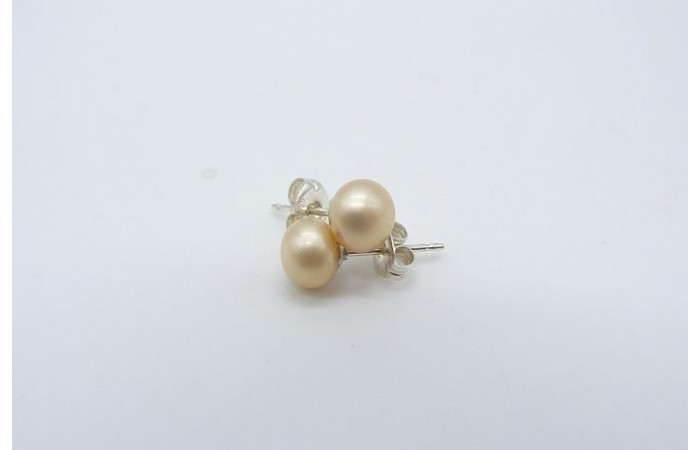 Ivory/Cream Pearl Stud Earring - Small