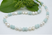 Amazonite & Pearl Necklace