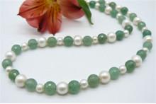 Aventurine & Pearl Necklace