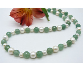 Aventurine & Pearl Necklace