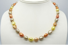 Autumn Mixed Baroque Pearl Necklace