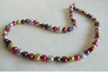 Mixed Colour Pearl Necklace