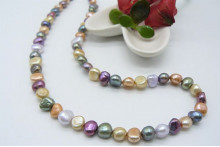 Mixed Soft Colour Pearl Necklace