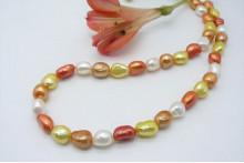 Orange Mixed Baroque Pearl Necklace