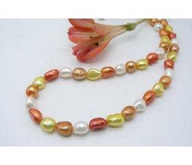 Orange Mixed Baroque Pearl Necklace