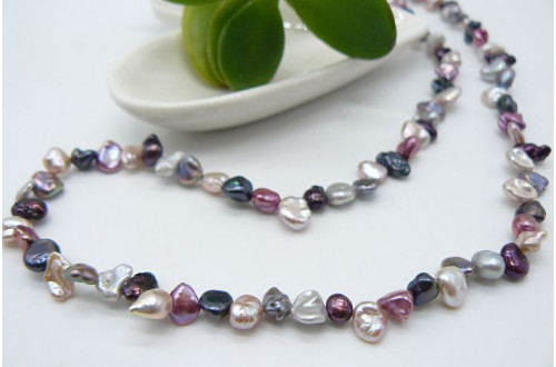 Pink & Mixed Pearl Keshi Necklace