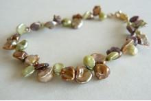 Green & Gold Keshi Pearl Bracelet