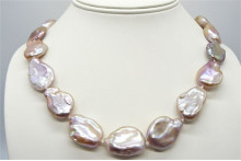 Pink Large Baroque Pearl Necklace