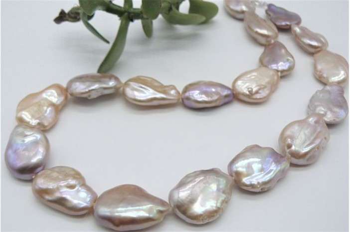 Pink Baroque Pearl Necklace