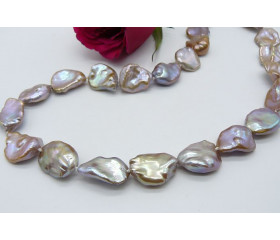 ONLY ONE AVAILABLE - Natural Taupe Keshi Baroque Pearl Necklace