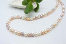 Natural Colour Small Round Pearl Necklace