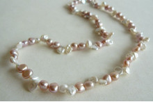 Pink & White Keshi Pearl Necklace