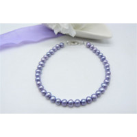Children's Light Purple Smallest Round Pearl Bracelet