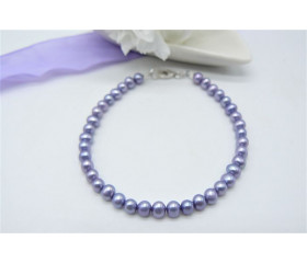 Light Purple Smallest Round Pearl Bracelet