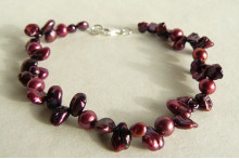 Mulberry Keshi & Pink Pearl Bracelet