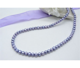 Light Purple Smallest Round Pearl Necklace