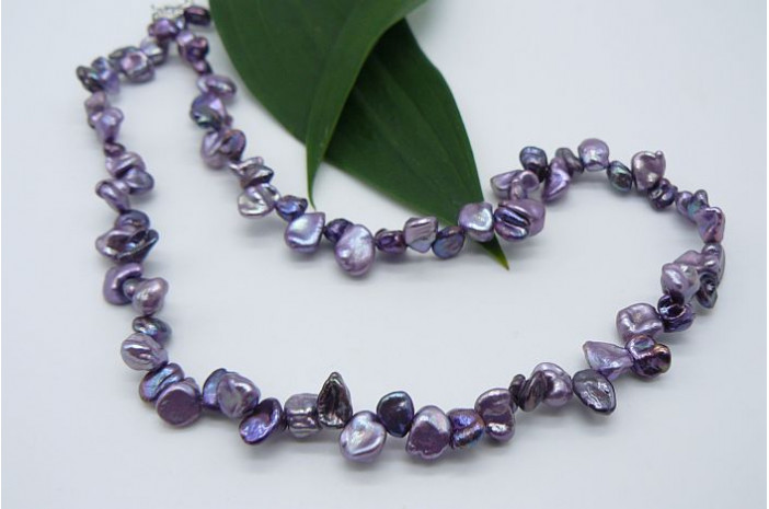 Purple Mix Keshi Pearl Necklace