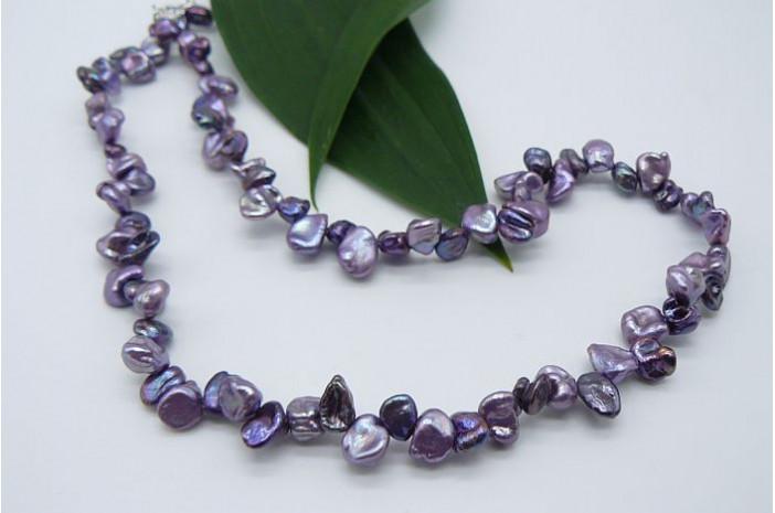 Purple Mix Keshi Pearl Necklace