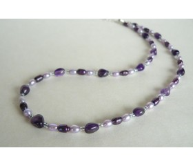 Purple & Lilac Freshwater Pearl Necklace
