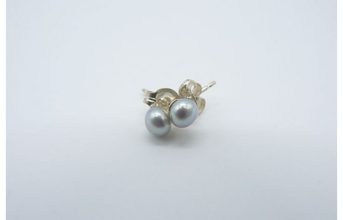 Silver Pearl Stud Earring - X-Small