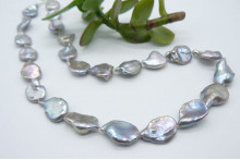 Silver Keshi Baroque Pearl Necklace