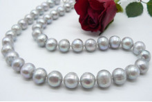 Silver Largest Round Pearl Necklace