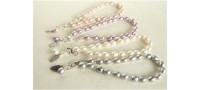 White Oval Pearl Bracelet & Leaf Charm