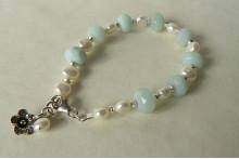 Amazonite & Pearl Bracelet