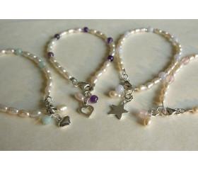 Children's Pearl & Charm Bracelets