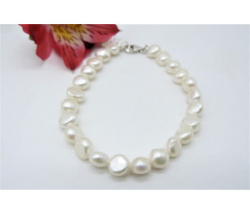 White Baroque Nugget Pearl Bracelet