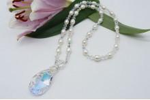 Swarovski Crystal & Pearl Pendant Necklace