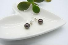 SALE OFFER Dark Bronze Pearl Stud Earrings - Small