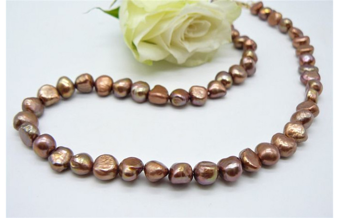 Light Bronze Irregular Pearl Necklace