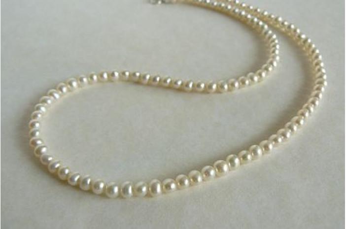 Children's Smallest White Round Pearl Necklace