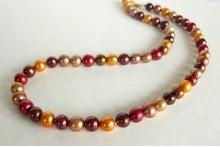 Orange Autumn Pearl Necklace