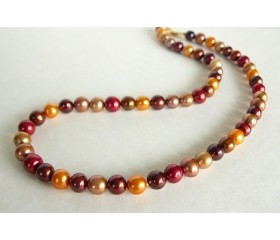 Orange Autumn Pearl Necklace