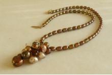 Bronze Cluster Necklace