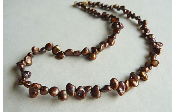 Bronze Keshi Pearl Necklace