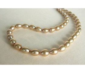 Champagne Oval Pearl Necklace