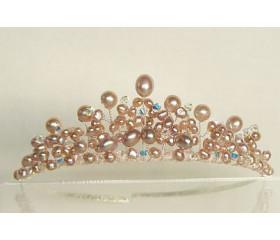 Pink Pearl Tiara