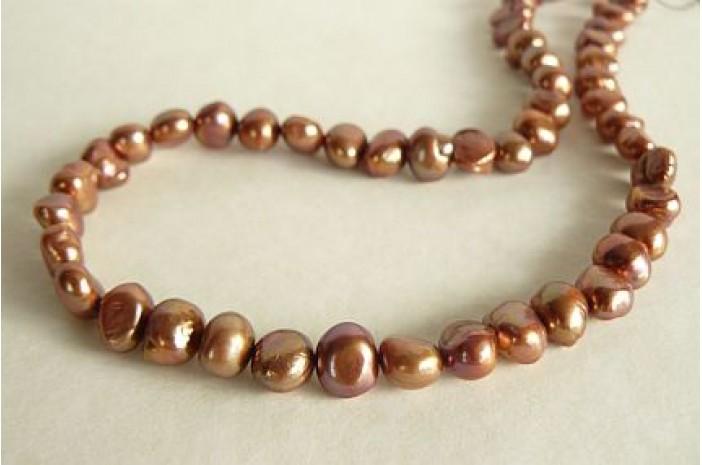 Light Bronze Irregular Pearl Necklace