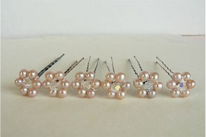Hairpins - Daisy Pink x 1