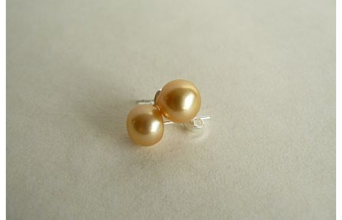 Gold-Yellow Pearl Stud Earring - Small