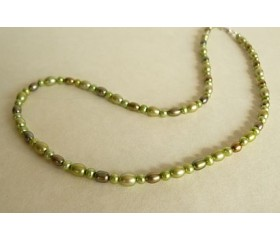 Green Mixed Pearl Necklace