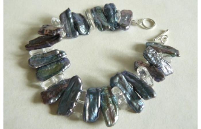 Grey BIWA Pearl Bracelet