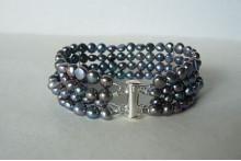 Grey Pearl Cuff Bracelet